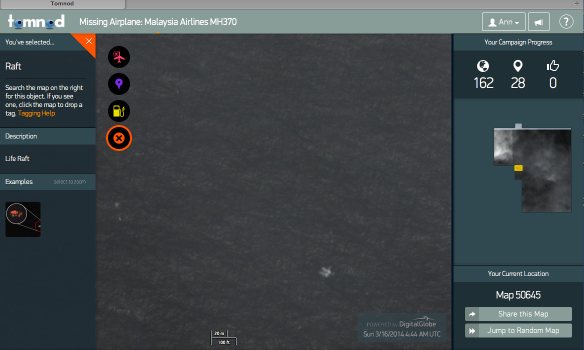 Released Tomnod Satellite image Dated 3/16/2014